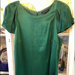 Green Silk Banana Republic Cocktail Dress